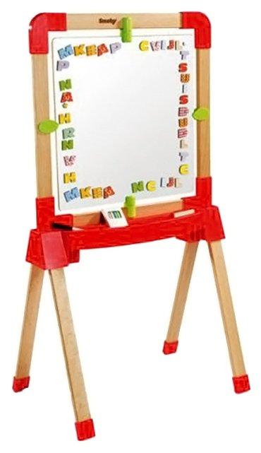 Доска для рисования детская Smoby деревянная, маркеры и буквы (28029)