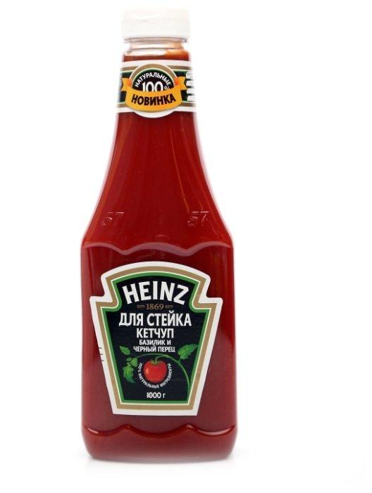 Кетчуп Heinz для стейка базилик и черный перец, 1 кг.