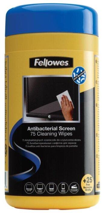 Fellowes FS-22117 антибактериальные салфетки для экранов (100 шт)