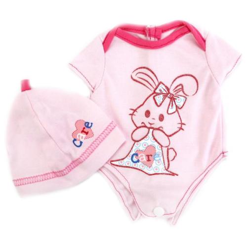 Купить Карапуз Боди и шапочка для кукол 40 - 42 см OTF-BLC03-RU розовый, Одежда для кукол