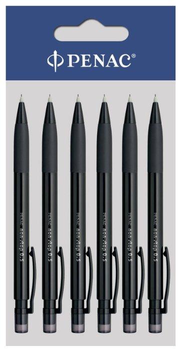 Penac Механический карандаш Non-Stop HВ, 0.5 мм, 6 шт.