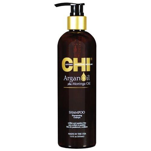 CHI шампунь Argan Oil Plus Moringa Oil 355 мл с дозатором chi cухой шампунь