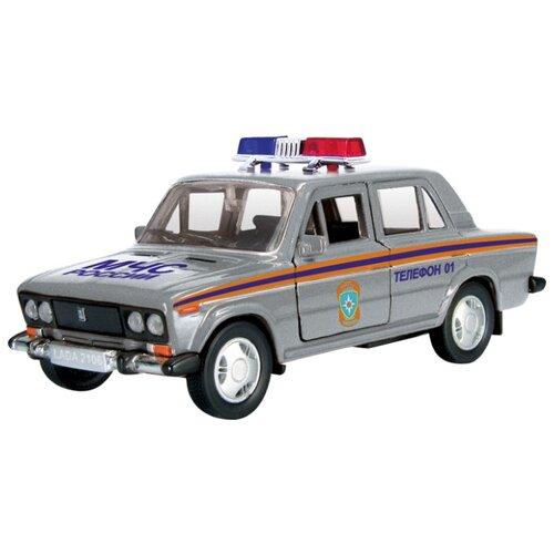 Легковой автомобиль Autogrand Lada 2106 МЧС (11468) 1:36 11 см серебристый/оранжевый/синий