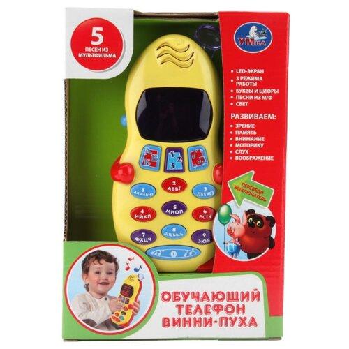 """Интерактивная развивающая игрушка Умка Обучающий телефон """"Винни Пух"""" желтый"""