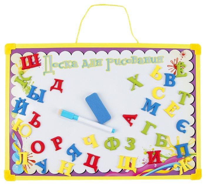 Доска для рисования детская Donkey Toys Теннисист с магнитными буквами (DT-R7113-3B)