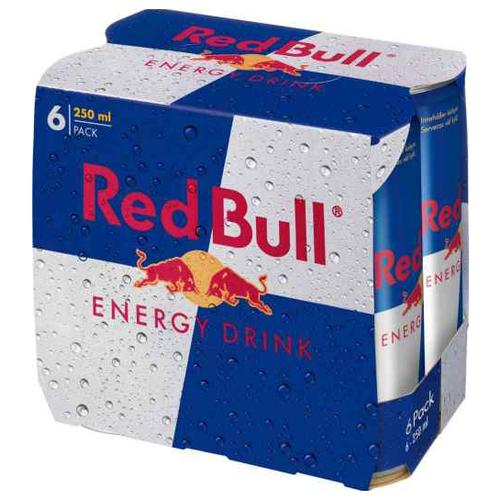 Энергетический напиток Red Bull, 0.25 л, 6 шт. drive me энергетический напиток 0 5 л