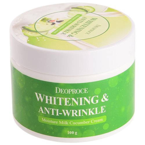Deoproce Moisture Milk Cucumber Cream Увлажняющий крем для лица с экстрактом огурца, 100 г эссенция для лица с экстрактом ростков баобаба 50мл deoproce musevera