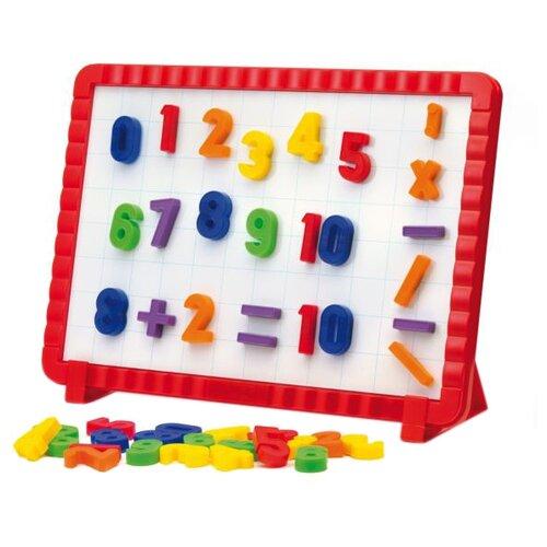 Доска для рисования детская Quercetti математическая 48 элементов (5183) красный
