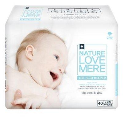Nature love mere подгузники Slim Premium L (9-12 кг) 40 шт.