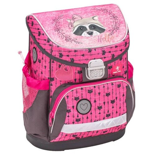 Купить Belmil Ранец Miss Racoon (405-33/607), розовый/серый, Рюкзаки, ранцы