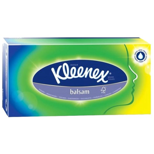 Салфетки Kleenex Balsam в картонной коробке 20 х 20 см, 72 шт. kleenex салфетки kleenex collection 100 штук