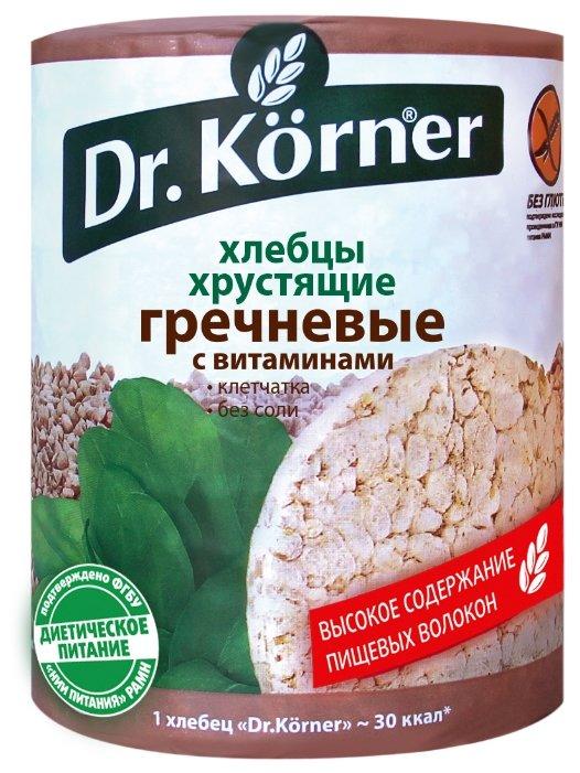 Хлебцы Dr. Korner хрустящие Гречневые с витаминами, 100г