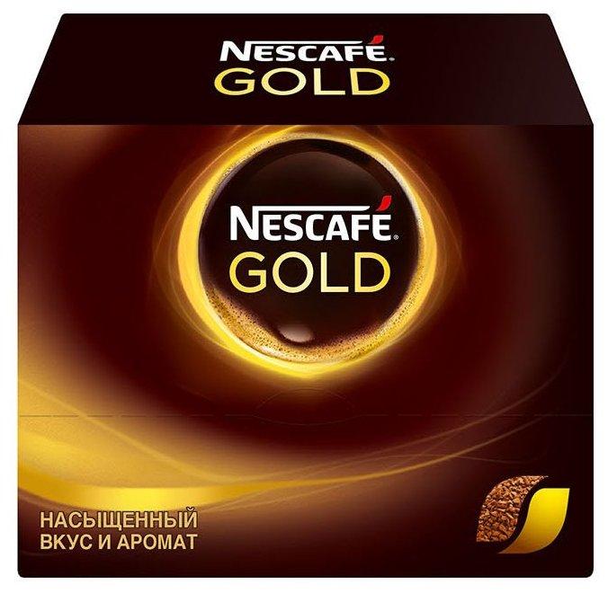 Растворимый кофе Nescafe Gold, в пакетиках