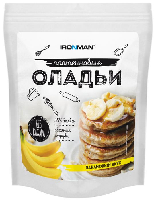 IRONMAN смесь для выпечки оладьев протеиновых (300