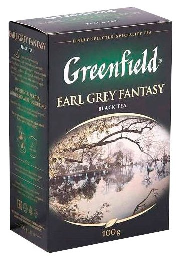 Чай черный Greenfield Earl Grey Fantasy, 100 г