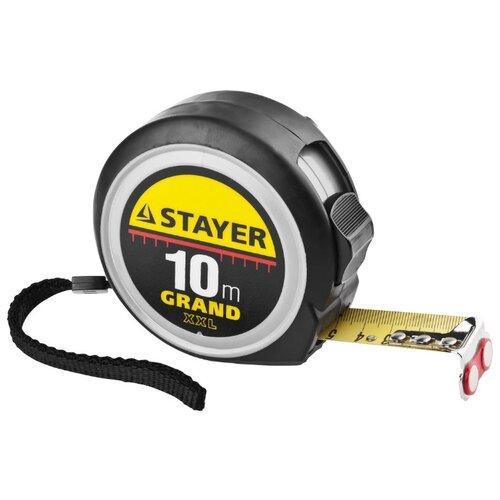 Фото - Измерительная рулетка STAYER 3411-10-25 25 мм x 10 м измерительная рулетка энкор рф2 10 25 25 мм x 10 м