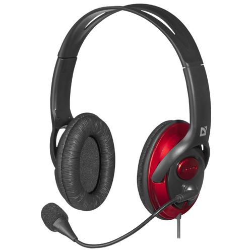 Компьютерная гарнитура Defender Phoenix 875U черный гарнитура defender siren черный красный