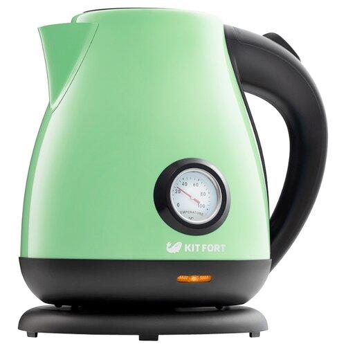 Чайник Kitfort KT-642-6, светло-зеленый чайник kitfort kt 642 1 розовый