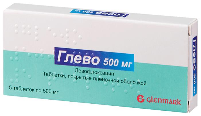 Глево таб. п/о плен. 500мг №5