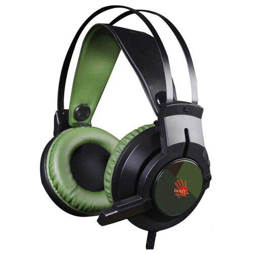 Купить Компьютерная гарнитура A4Tech Bloody J450 green