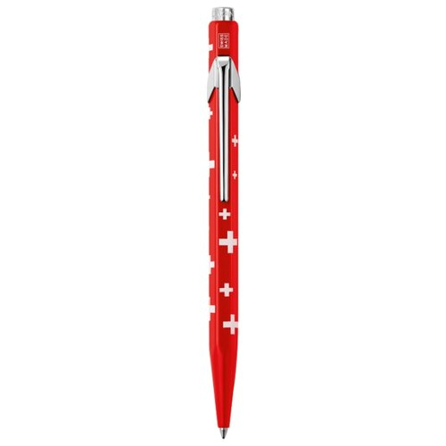CARAN D'ACHE шариковая ручка Office Line 849 Totally Swiss, M (849.053), синий цвет чернил
