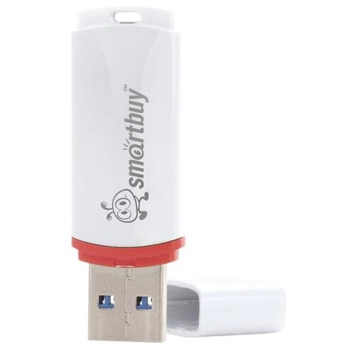 Фото - Флешка SmartBuy Crown USB 2.0 16GB белый флешка usb 16gb qumo cosmos usb2 0 хром qm16gud cos