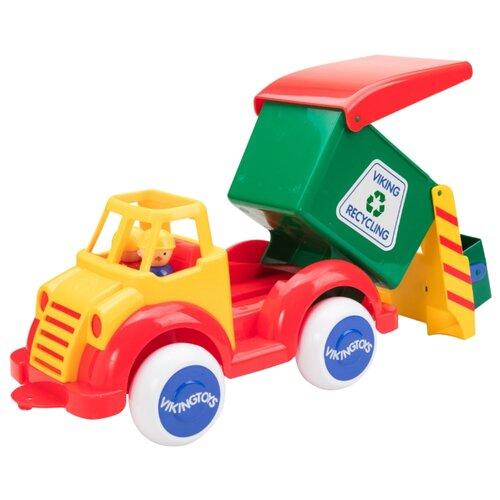 Купить Мусоровоз Viking Toys Super Jumbo (1513) 35 см красный/зеленый/желтый, Машинки и техника