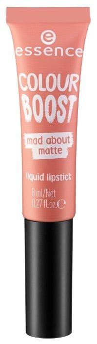 Essence Жидкая помада для губ Colour Boost Mad About Matte Liquid Lipstick