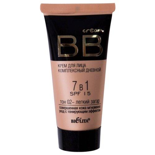 Купить Bielita BB крем 7 в 1 Комплексный, SPF 15, 30 мл, оттенок: 02 легкий загар