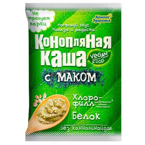 Компас Здоровья Каша конопляная с маком, порционная (1 шт.) сдоба хлебозавод 28 с маком