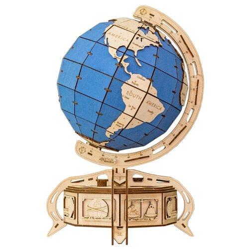 Сборная модель Eco Wood Art Глобус голубой брелок бижутерный eco wood art