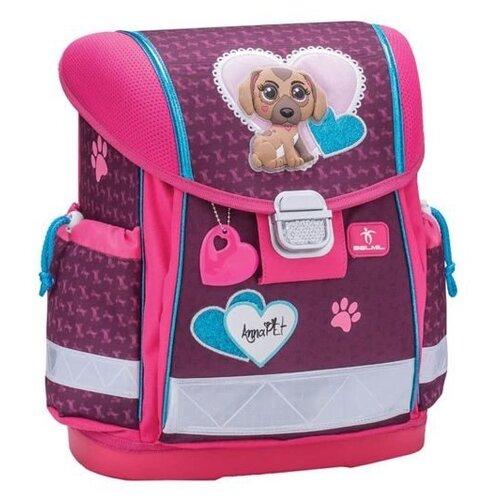 Купить Belmil Ранец Classy Anna Pet, Puppy (403-13/623), розовый/фиолетовый, Рюкзаки, ранцы