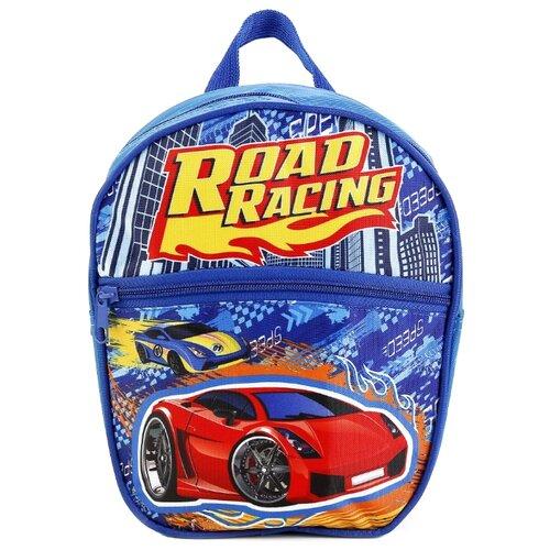 Купить Играем вместе Дошкольный рюкзак Гонки малый с передним карманом (SBPZ18-DRIVE) синий, Рюкзаки, ранцы