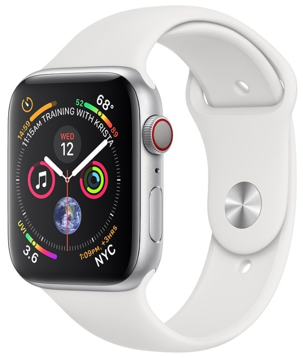 Apple Часы Apple Watch Series 4 GPS + Cellular 44mm Aluminum Case with Sport Band
