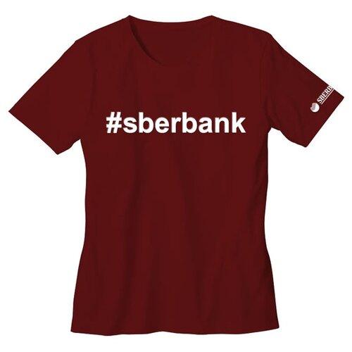 Футболка детская #sberbank размер 116/32, бордоваяОдежда и аксессуары<br>