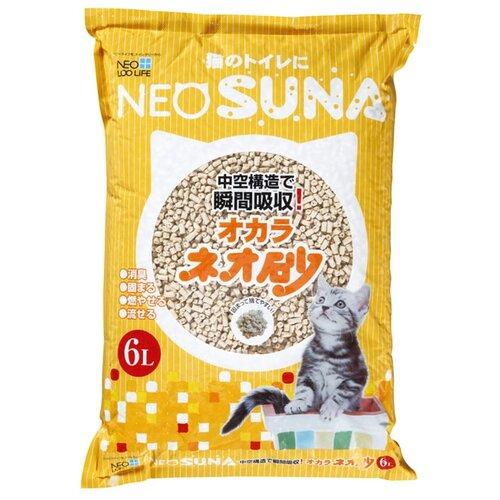 Комкующийся наполнитель NeoSuna на основе соевых бобов 6 л