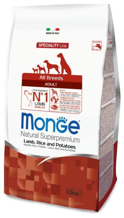 Корм для собак Monge Speciality Line – Ягненок с рисом и картофелем. Монобелковый рацион для собак