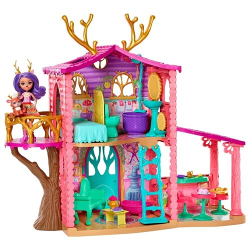Купить Набор с куклой Enchantimals Домик Данэссы Оленни, 15 см, FRH50, Куклы и пупсы