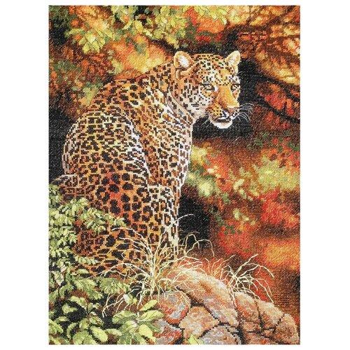 Купить Dimensions Набор для вышивания крестиком Leopard's Gaze (Взгляд леопарда) 30 х 41 см (35209), Наборы для вышивания