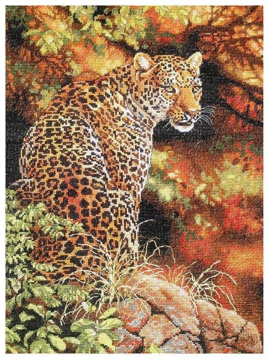 Dimensions Набор для вышивания крестиком Leopard's Gaze (Взгляд леопарда) 30 х 41 см (35209)
