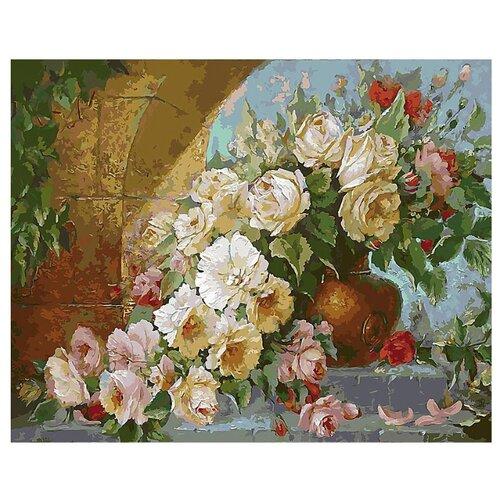 Купить Белоснежка Картина по номерам Королевский букет 40х50 см (035-AB), Картины по номерам и контурам