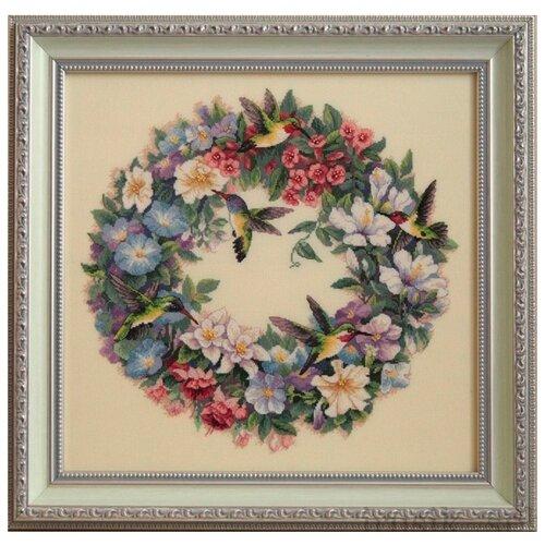 Купить Dimensions Набор для вышивания Hummingbird Wreath (Венок с колибри) 37 х 36 см (35132), Наборы для вышивания
