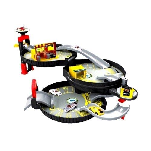 Купить ABtoys Авто Сити: Городская парковка PT-00547 черный/серый/красный/желтый, Детские парковки и гаражи