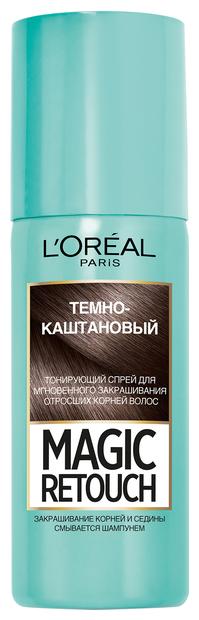 Спрей L'Oreal Paris Magic Retouch для мгновенного закрашивания отросших корней волос, оттенок Темно-каштановый