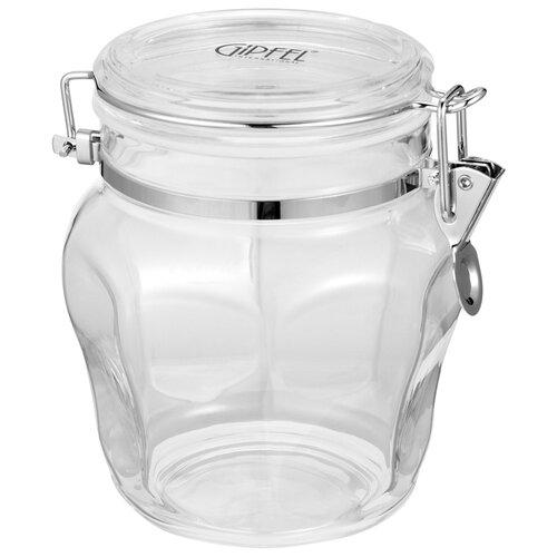GIPFEL Банка для сыпучих продуктов Kron 3725 1000 мл прозрачный oursson банка для жидких и сыпучих продуктов ja55042 ga 1000 мл
