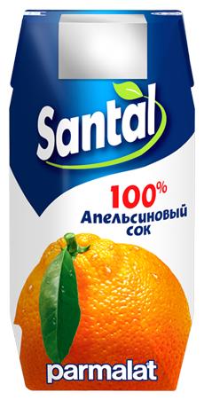 Сок Santal апельсиновый, 200 мл