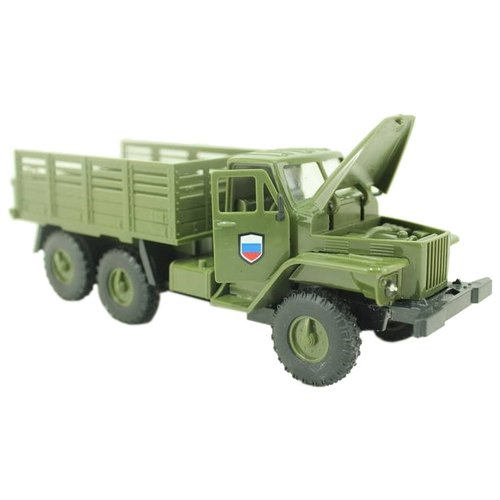 Купить Грузовик ABtoys Урал Вооруженные силы (M7711-3C) зеленый, Машинки и техника