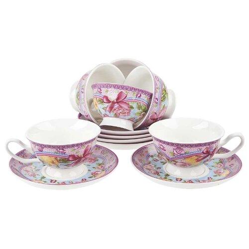 Чайный сервиз Nouvelle De France Розовый нектар, 12 предметов, 180 мл (подарочная упаковка)Сервизы<br>