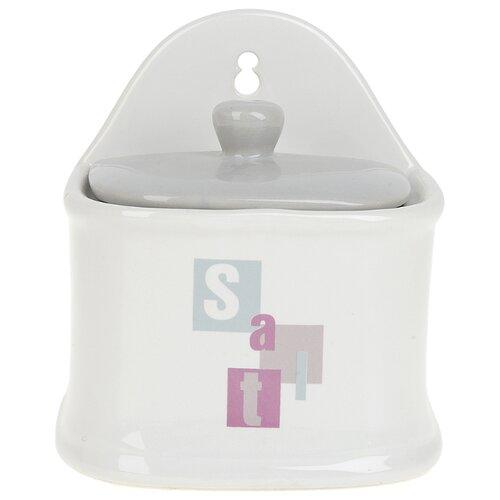 ENS Навесная солонка Letters белыйСолонки, перечницы и емкости для специй<br>