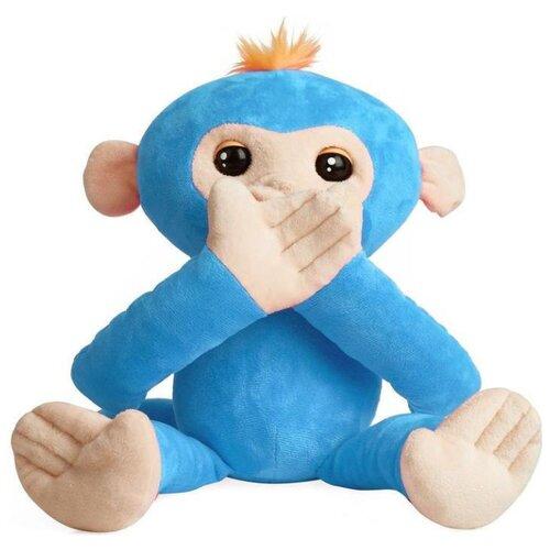 Купить Интерактивная мягкая игрушка WowWee Fingerlings Hugs Обезьянка-обнимашка голубой, Роботы и трансформеры